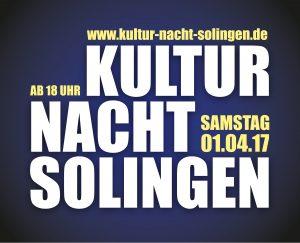 Kultur Nacht Solingen (01.04.2017 18:00)