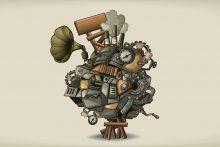 Mensch und Maschine Motiv